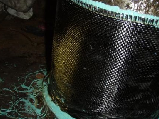 Marine HydraWrap in use to protect a pipe