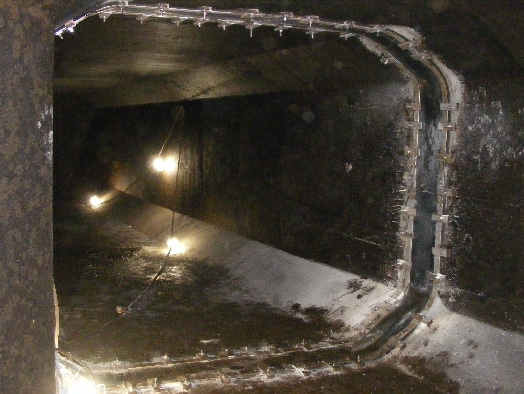 a custom shape HydraTite seal installed in an oddly shaped culvert