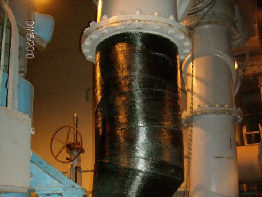 HydraWrap protecting a large pipe