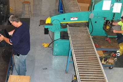 Two employees HydraTech's shop manufacturing HydraTite