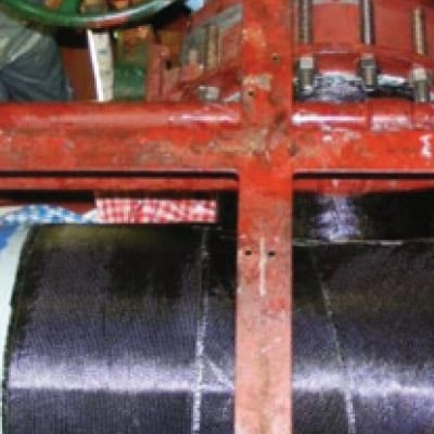 Field Marine HydraWrap applied to a cooling water system on a vessel